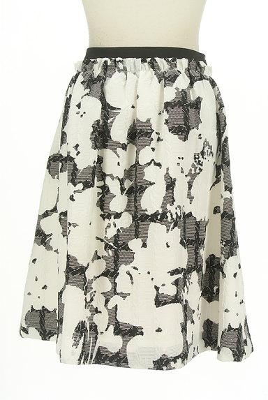 NARA CAMICIE(ナラカミーチェ)の古着「ミディ丈モノトーン花柄スカート(スカート)」大画像2へ