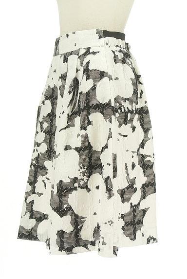 NARA CAMICIE(ナラカミーチェ)の古着「ミディ丈モノトーン花柄スカート(スカート)」大画像3へ