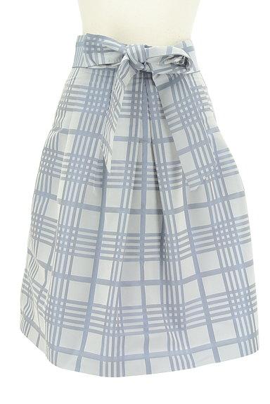 NARA CAMICIE(ナラカミーチェ)の古着「ウエストリボン膝丈チェックスカート(スカート)」大画像1へ