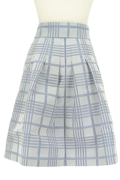 NARA CAMICIE(ナラカミーチェ)の古着「ウエストリボン膝丈チェックスカート(スカート)」大画像2へ