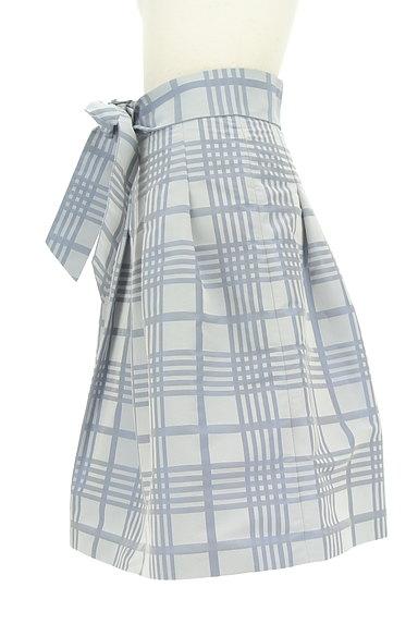 NARA CAMICIE(ナラカミーチェ)の古着「ウエストリボン膝丈チェックスカート(スカート)」大画像3へ