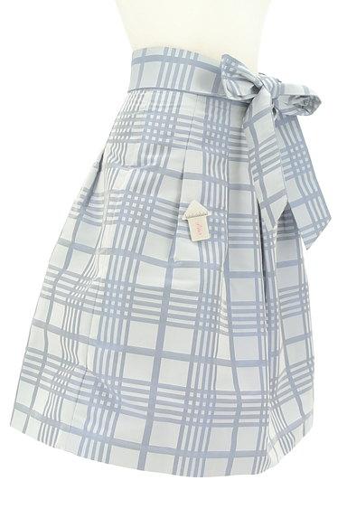 NARA CAMICIE(ナラカミーチェ)の古着「ウエストリボン膝丈チェックスカート(スカート)」大画像4へ