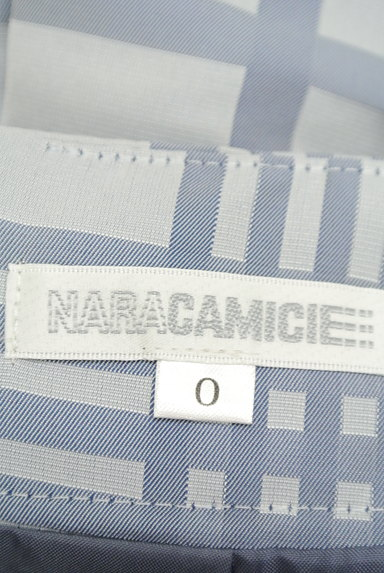 NARA CAMICIE(ナラカミーチェ)の古着「ウエストリボン膝丈チェックスカート(スカート)」大画像6へ
