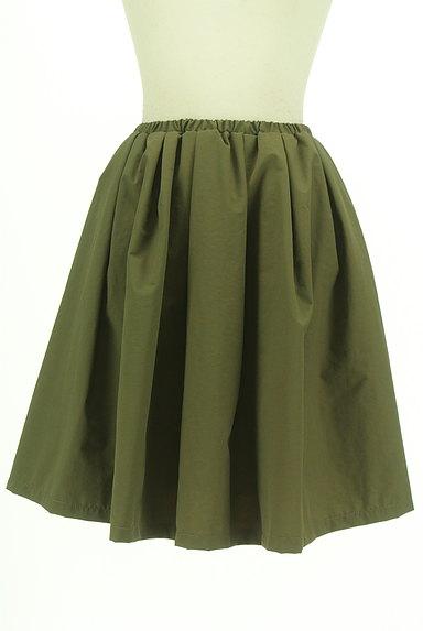 N.Natural Beauty Basic*(エヌ ナチュラルビューティーベーシック)の古着「膝丈ギャザーフレアスカート(スカート)」大画像1へ