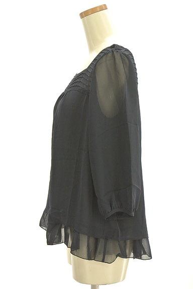 Te chichi(テチチ)の古着「肩リボンシフォンカットソー(カットソー・プルオーバー)」大画像3へ
