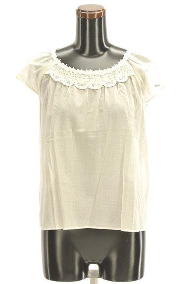 Te chichi(テチチ)の古着「スカラップ衿レースブラウス(カットソー・プルオーバー)」大画像1へ