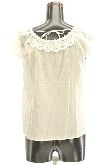 Te chichi(テチチ)の古着「スカラップ衿レースブラウス(カットソー・プルオーバー)」大画像2へ