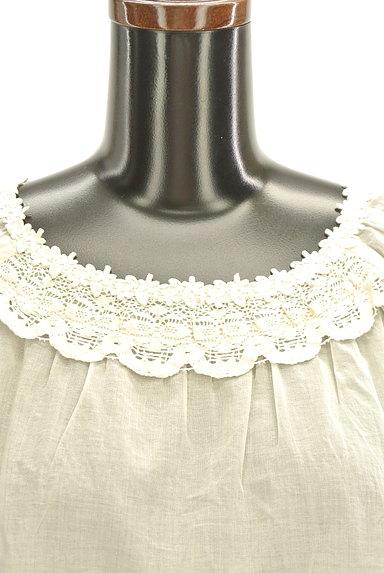 Te chichi(テチチ)の古着「スカラップ衿レースブラウス(カットソー・プルオーバー)」大画像4へ
