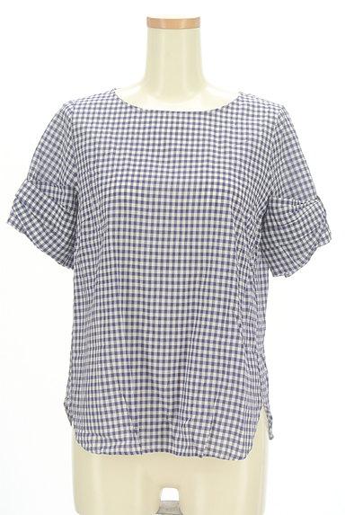 Te chichi(テチチ)の古着「袖リボンチェック柄プルオーバー(カットソー・プルオーバー)」大画像1へ