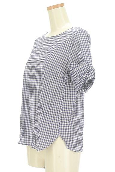Te chichi(テチチ)の古着「袖リボンチェック柄プルオーバー(カットソー・プルオーバー)」大画像3へ