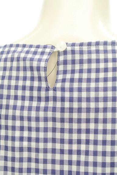Te chichi(テチチ)の古着「袖リボンチェック柄プルオーバー(カットソー・プルオーバー)」大画像4へ
