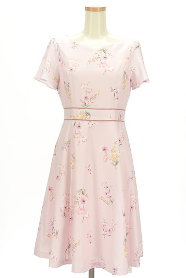 LAISSE PASSE(レッセパッセ)の古着「ミモレ丈花柄ワンピース(ワンピース・チュニック)」大画像1へ