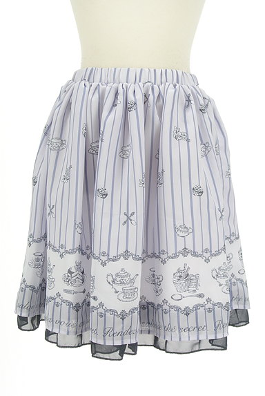 axes femme(アクシーズファム)の古着「ミディ丈ロマンティックフレアスカート(スカート)」大画像1へ