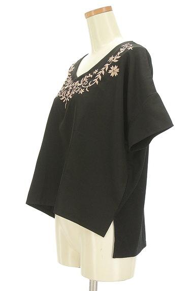 OZOC(オゾック)の古着「刺繍半袖カットソー(カットソー・プルオーバー)」大画像3へ