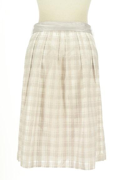 NATURAL BEAUTY(ナチュラルビューティ)の古着「リボンベルト付フレア膝丈スカート(スカート)」大画像2へ