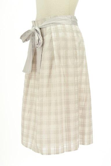 NATURAL BEAUTY(ナチュラルビューティ)の古着「リボンベルト付フレア膝丈スカート(スカート)」大画像3へ