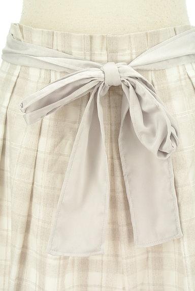 NATURAL BEAUTY(ナチュラルビューティ)の古着「リボンベルト付フレア膝丈スカート(スカート)」大画像4へ