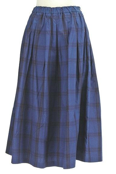 vm(ヴーム)の古着「チェック柄タックフレアミモレスカート(ロングスカート・マキシスカート)」大画像1へ