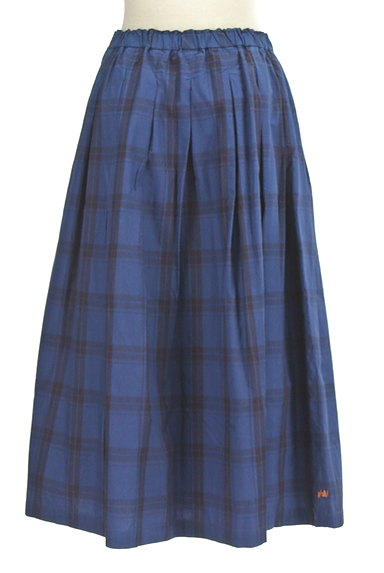 vm(ヴーム)の古着「チェック柄タックフレアミモレスカート(ロングスカート・マキシスカート)」大画像2へ