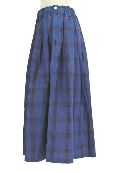 vm(ヴーム)の古着「チェック柄タックフレアミモレスカート(ロングスカート・マキシスカート)」大画像3へ