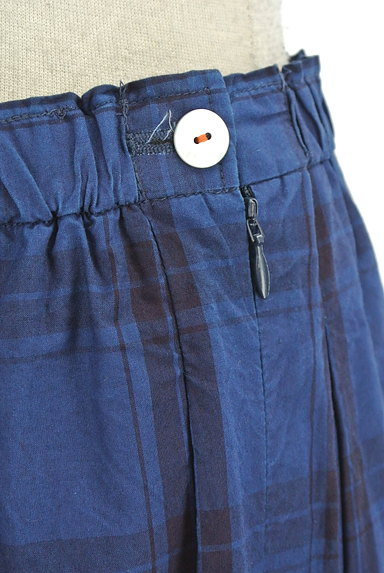 vm(ヴーム)の古着「チェック柄タックフレアミモレスカート(ロングスカート・マキシスカート)」大画像4へ