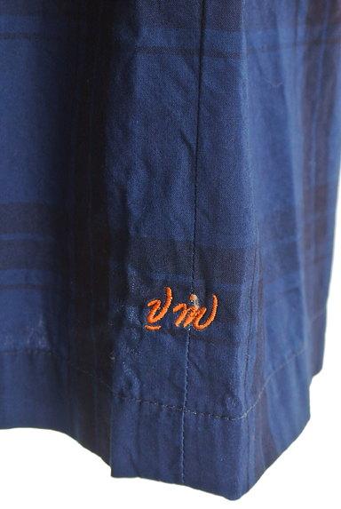 vm(ヴーム)の古着「チェック柄タックフレアミモレスカート(ロングスカート・マキシスカート)」大画像5へ