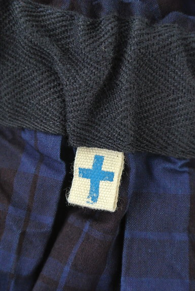 vm(ヴーム)の古着「チェック柄タックフレアミモレスカート(ロングスカート・マキシスカート)」大画像6へ