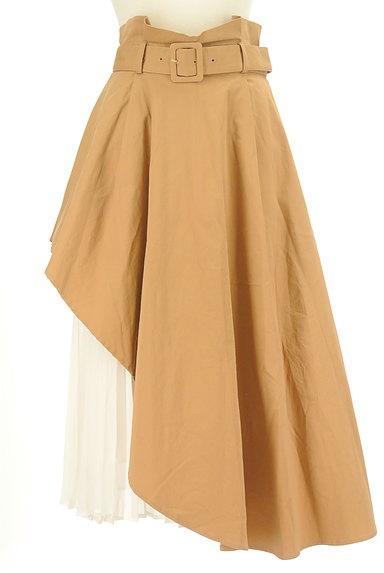 LagunaMoon(ラグナムーン)の古着「内側プリーツアシメロングスカート(ロングスカート・マキシスカート)」大画像1へ