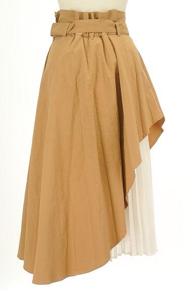 LagunaMoon(ラグナムーン)の古着「内側プリーツアシメロングスカート(ロングスカート・マキシスカート)」大画像2へ