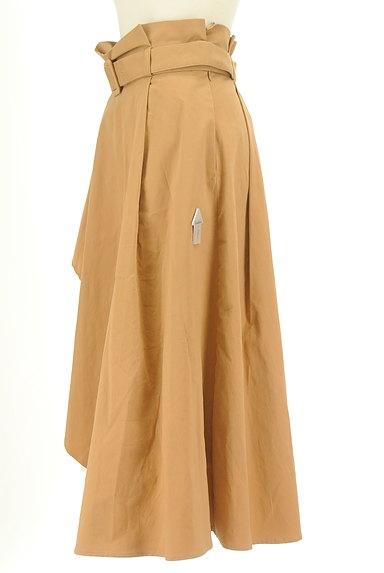 LagunaMoon(ラグナムーン)の古着「内側プリーツアシメロングスカート(ロングスカート・マキシスカート)」大画像4へ