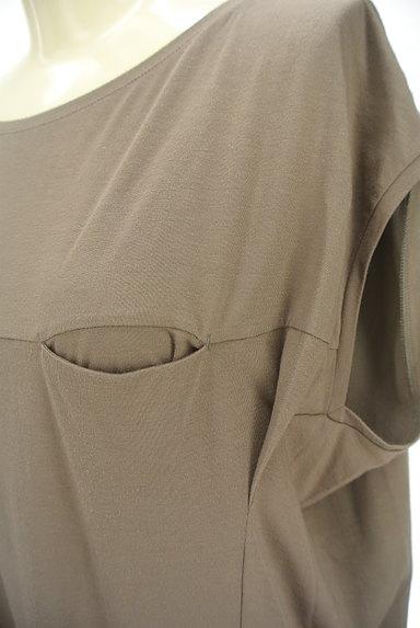 LAPIS LUCE(ラピスルーチェ)の古着「シンプル膝下丈カットソーワンピ(ワンピース・チュニック)」大画像4へ