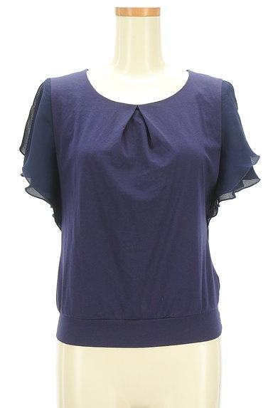 COUP DE CHANCE(クードシャンス)の古着「袖シフォンカットソー(カットソー・プルオーバー)」大画像1へ