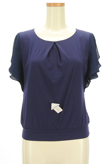 COUP DE CHANCE(クードシャンス)の古着「袖シフォンカットソー(カットソー・プルオーバー)」大画像4へ