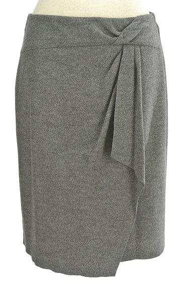 COUP DE CHANCE(クードシャンス)の古着「膝丈ラップ風ウールタイトスカート(スカート)」大画像1へ