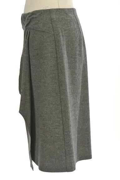 COUP DE CHANCE(クードシャンス)の古着「膝丈ラップ風ウールタイトスカート(スカート)」大画像3へ