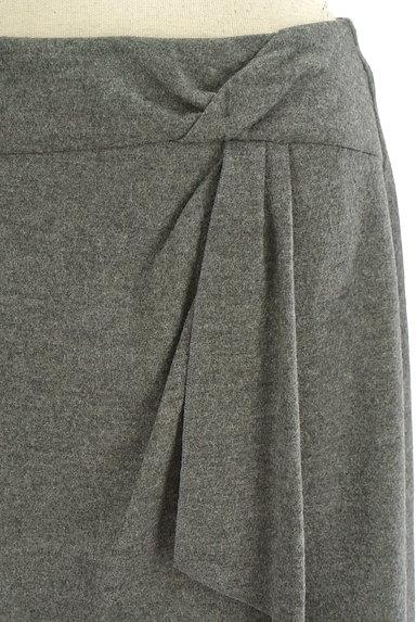 COUP DE CHANCE(クードシャンス)の古着「膝丈ラップ風ウールタイトスカート(スカート)」大画像4へ
