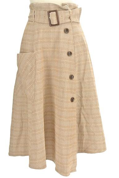 dazzlin(ダズリン)の古着「ラップ風ミモレ丈スカート(ロングスカート・マキシスカート)」大画像1へ