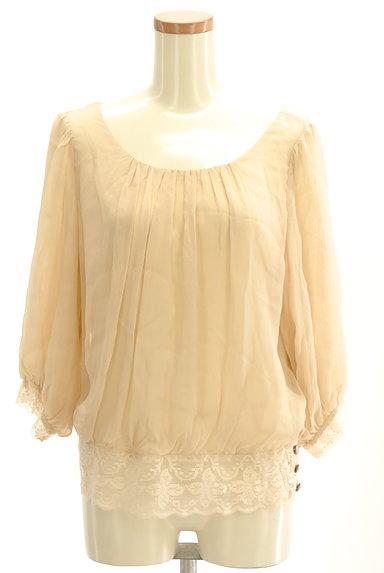 Rouge vif La cle(ルージュヴィフラクレ)の古着「裾レースシフォンブラウス(カットソー・プルオーバー)」大画像1へ
