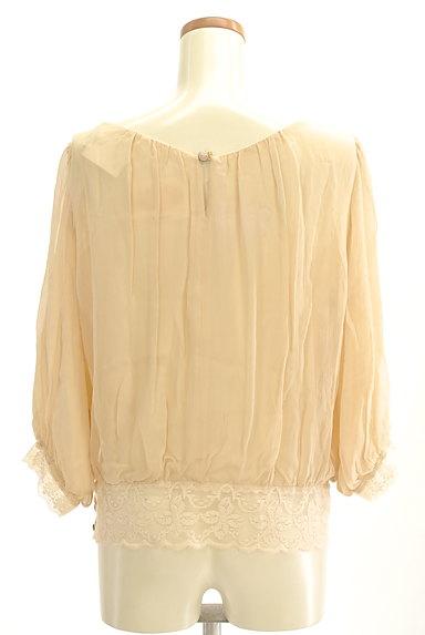 Rouge vif La cle(ルージュヴィフラクレ)の古着「裾レースシフォンブラウス(カットソー・プルオーバー)」大画像2へ