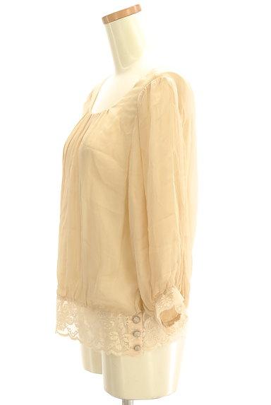 Rouge vif La cle(ルージュヴィフラクレ)の古着「裾レースシフォンブラウス(カットソー・プルオーバー)」大画像3へ