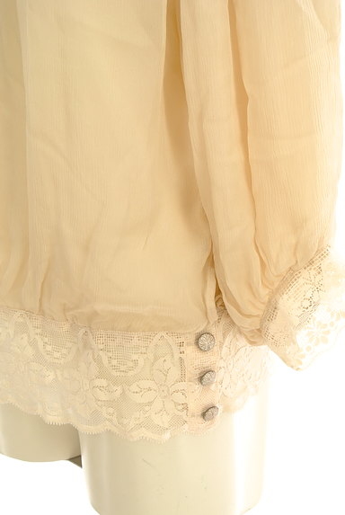 Rouge vif La cle(ルージュヴィフラクレ)の古着「裾レースシフォンブラウス(カットソー・プルオーバー)」大画像5へ