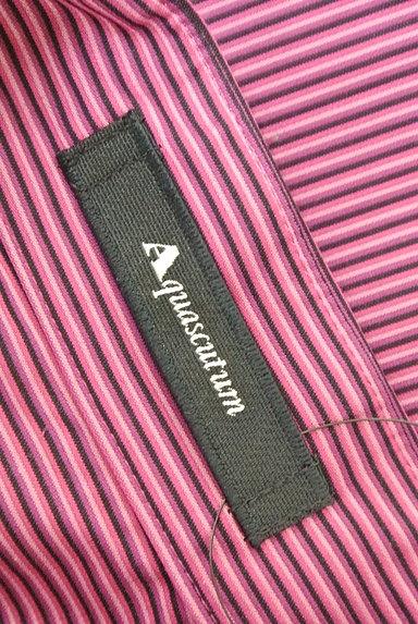 Aquascutum(アクアスキュータム)の古着「フロントフリルストライプ柄シャツ(ブラウス)」大画像6へ