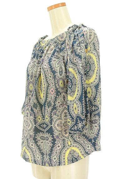 Aquascutum(アクアスキュータム)の古着「ペイズリー柄七分袖ブラウス(カットソー・プルオーバー)」大画像3へ