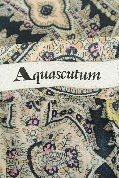 Aquascutum(アクアスキュータム)の古着「ペイズリー柄七分袖ブラウス(カットソー・プルオーバー)」大画像6へ