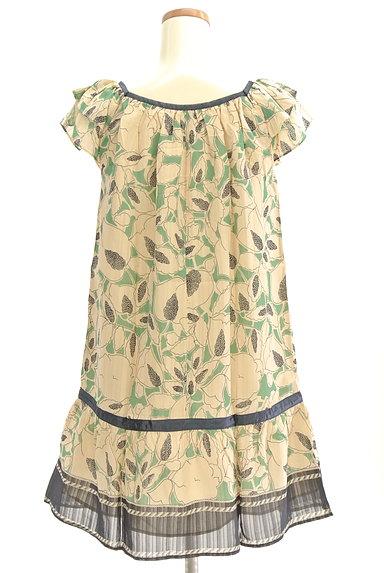 Rouge vif La cle(ルージュヴィフラクレ)の古着「膝下丈袖フリルシアー花柄ワンピース(ワンピース・チュニック)」大画像2へ