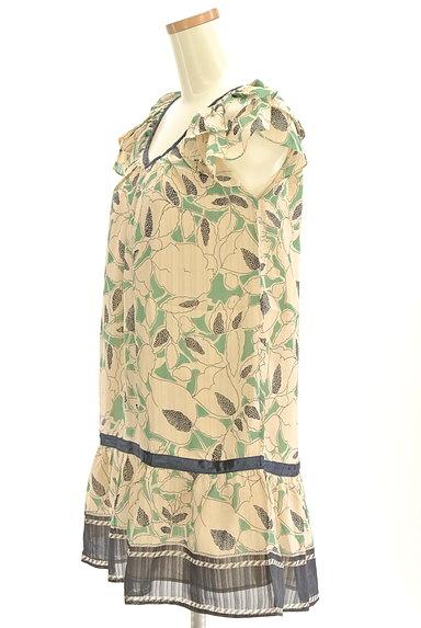 Rouge vif La cle(ルージュヴィフラクレ)の古着「膝下丈袖フリルシアー花柄ワンピース(ワンピース・チュニック)」大画像3へ