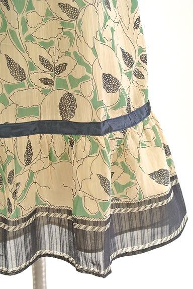 Rouge vif La cle(ルージュヴィフラクレ)の古着「膝下丈袖フリルシアー花柄ワンピース(ワンピース・チュニック)」大画像5へ