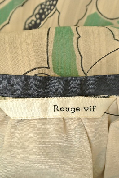 Rouge vif La cle(ルージュヴィフラクレ)の古着「膝下丈袖フリルシアー花柄ワンピース(ワンピース・チュニック)」大画像6へ