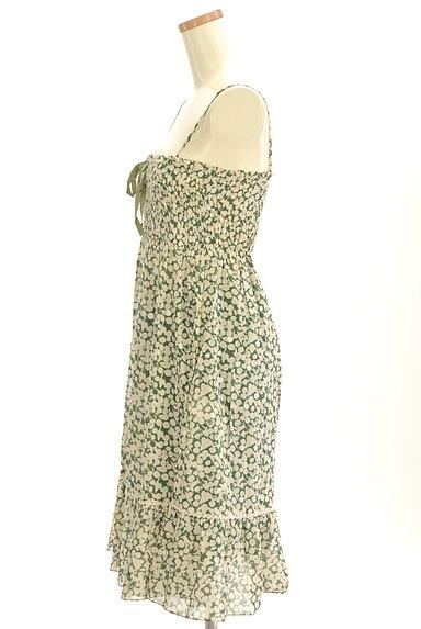 Rouge vif La cle(ルージュヴィフラクレ)の古着「膝下丈シアーキャミワンピース(キャミワンピース)」大画像3へ