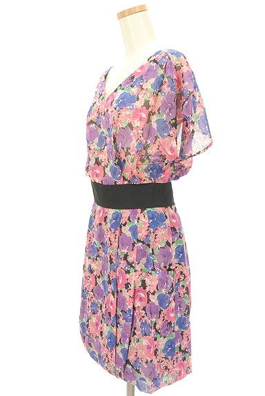 Rouge vif La cle(ルージュヴィフラクレ)の古着「花柄シフォンワンピース(ワンピース・チュニック)」大画像3へ